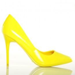 Czółenka Fantastyczne Żółte Neonowe Klasyki 4982