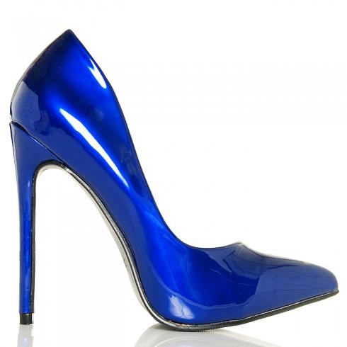 Czółenka Metaliczne Niebieskie SEXY Czółenka
