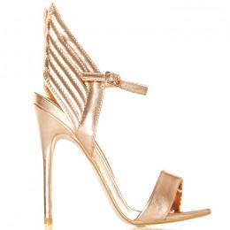Sandały - Idealne Szampańskie - Złote Skrzydła