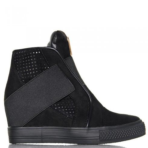 nie - Sneakersy Czarne Wyjątkowe - Zakładana Guma