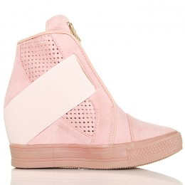 Sneakersy Różowe Wyjątkowe - Zakładana Guma