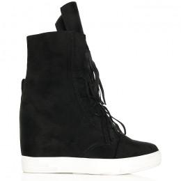 Sneakersy Błyszczące Czarne - Topowe Fredzle 6218