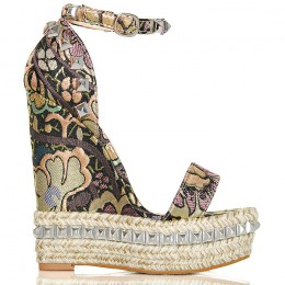 Sandały Różowe Kwieciste - Paseczek Na Kostkę 6259