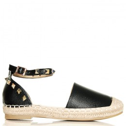 Sandały Modne Czarne Espadryle 6318
