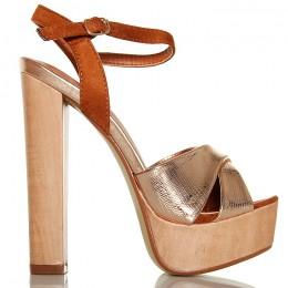 Sandały Drewniaki Szampańskie Słupek 6366