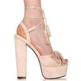 Sandały Beżowa Kwintesencja Kobiecości 6381