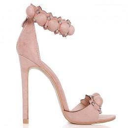 Sandały Różowe - Fantazyjne Zdobienie 6427