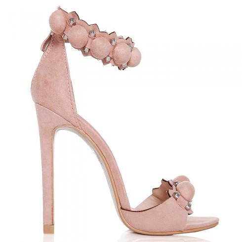 nie-Sandały Różowe Fantazyjne Zdobienie 6427