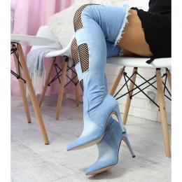 Muszkieterki Jasny Jeans Sexy Kabaretka 6747