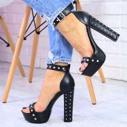 Sandały Sexy Kobiece Zgrabne z Kolcami 7417