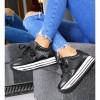 Trampki Czarne Adidasy Koturna w Paski 7489