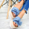 Klapki Niebieskie Klasyczne - Kokarda 7745