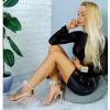 Sandały Szampański Lakier Silikownowy Pasek 7805