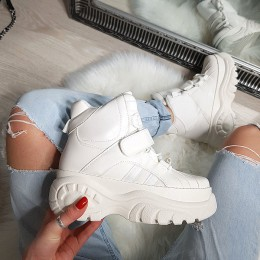 Botki Białe Zabudowane Adidasy 8136