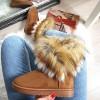 Botki Camel Emu Trzykolorowe Futerko 8169