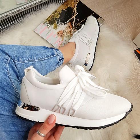 nie - Trampki Designerksie Białe Adidasy 8185