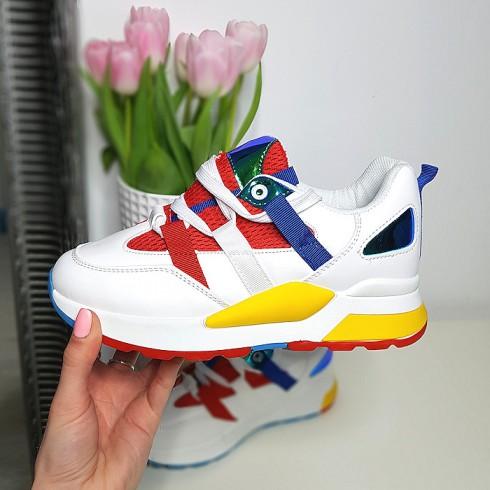 Trampki Kolorowe Sznurowane Adidasy 8224
