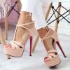 Sandały Różowe Sexy Paseczki 6461