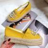 Espadryle Żółte Cyrkonie i Perły 8306