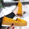 Espadryle Wyższe Zamszowe Żółte 8315