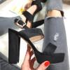 Sandały Czarne Zapinane Na Pięcie 8267