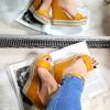 Sandały Zamszowe w Cyrkonie Na Koturnie 8309