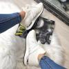 Trampki Designerksie Białe Brokatowe Adidasy 8385