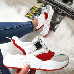 Tramki Czerwono Białe Adidasy 8379