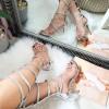 Sandały Wysokie Biżuteryjne Gladiatorki 8360