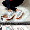Trampki Białe Adidasy Holograficzna Wstawka 8455