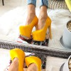 Czółenka Żółty Lakier Na Ukrytej Platformie 8468