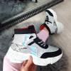 Trampki Srebrne Sneakersy Nakrapiana Podeszwa 8688