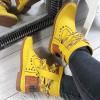 Botki Żółte Wciagane Saszki w Łańcuchy 8713