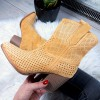 Botki Żółte Wiosenne Azurowe Kowbojki 8715