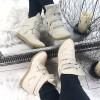 Sneakersy Jasno Bezowe Na Trzy Rzepy 8735