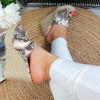 Klapki Klasyczne Wężowe Na Koturnie 8831