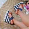 Sandały Jeansowe Rewelacyjne Na Koturnie 8861