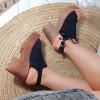 Sandały Czarne Dziurkowane Lekkie 8897