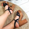 Sandały Zapinane Czarne z Eko-Skóry 8873