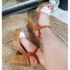 Sandały Białe Eko-Skóra Pleciony Pasek 8877