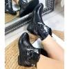 Botki Czarne Kowbojki na Koturnie 8986
