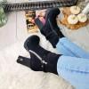 Botki Kobiece Czarne w Cyrkonie 9042