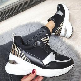 Trampki  Czarne Adidasy - Tył Zebra 9086