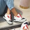 Trampki Biało Granatowe Adidasy 9101