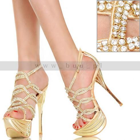 NIE - HOT Glamour - Kryształowe Złote Cyrkonie