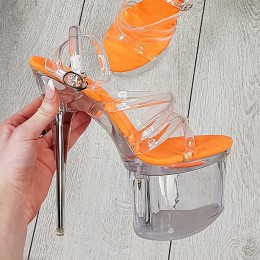 Sandały Silikonowe Neonowa Wkładka 9269