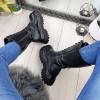 Kozaki Czarne Eko-skóra Wysokie Workery 9281