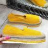 Espadryle Wyższe Zamszowe Żółte 9337