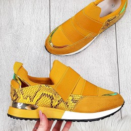 Trampki Żółte Wciągane Adidasy 9564