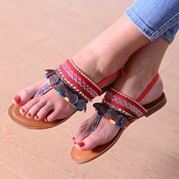 Sandały Talarki Czerwone - Kolorowe Japonki 9686